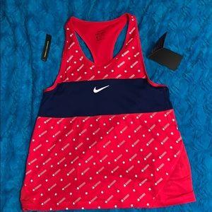 Nike Dri-Fit Red/White/Blue Tank NWT Small